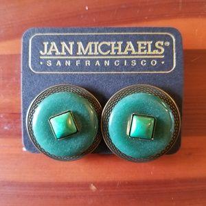 Jan Michael's clip on earrings. Retro style!